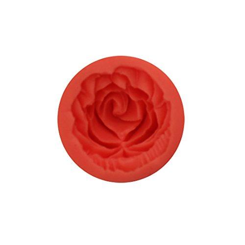 Joystore 3D Rosen Blumen Fondant Kuchen Schokoladen Form Scherblock Sugarcraft DIY Silikon Werkzeuge