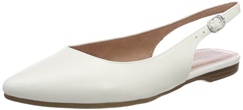 Tamaris Damen 29407 Slingback Sandalen, Weiß (White 100), 40 EU (Weiße Sandale Frauen Flache)