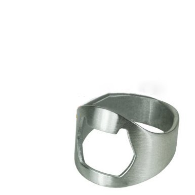 Anello in acciaio inox apribottiglie (u)