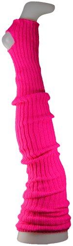 Damen Stulpen Formstabil Fuchsia 72cm 1 Paar Beinwärmer Extralang Oberschenkel / Overknee - Ballettstulpen Fersenloch