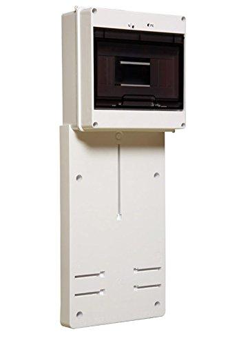 Zählerbrett für Drehstrom und Wechselstrom Zählertafel incl. Kleinverteiler / Sicherungskasten mit 35mm DIN-Schiene / Hutschiene für Umverteilung von 1-9 Module, Aufputz Montage, Norm: PN-EN 62208:2011; PN-EN 61439-1