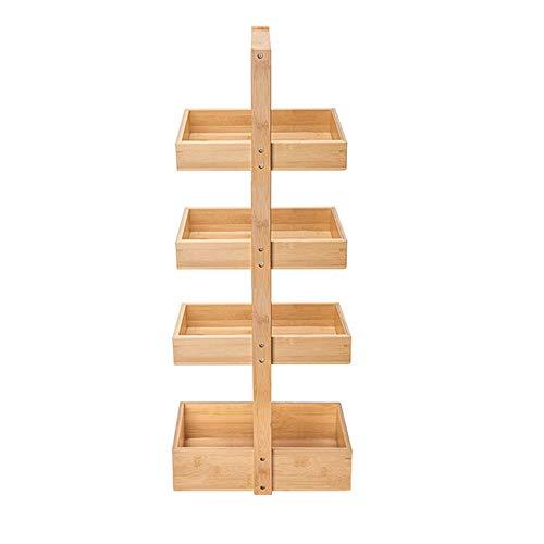 MIEDZWJ Badezimmer Regal Stehen, Massivholz Multifunktionsrolle Badezimmer Regal, Badwagen, für Duschraum Bodenständig Küchenregal/A / 35x105cm