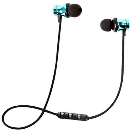 Dorical Bluetooth Kopfhörer, Kabellos Headset, BT 4.1 Stereo Kopfhörer Headset Kabellos Magnetisch Im Ohr Ohrhörer Kopfhörer Sale (One size, Blau-1)