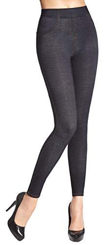 Firstclass Trendstore schöne Leggings in Jeansoptik * Gr. S-XXL * Damenleggings Leggins Damen Hose Jeans-Look (Blanka 900078 M)