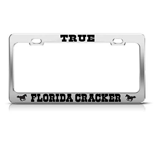 True Florida Cracker Chrome License Plate Frame...