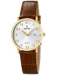 FESTINA F16479/2 - Reloj de mujer de cuarzo, correa de piel color marrón