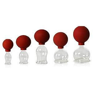 5er Schrpfglas Set Mit Ball 20 30 40 50 60mm Zum Professionellen Medizinischenfeuerlosen Schrpfen Mundgeblasen Handgeformt Schrpfglas Schrpfglser Lauschaer Glas Das Original
