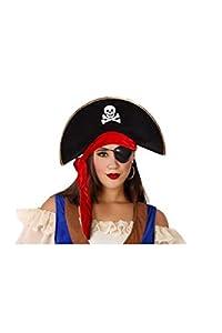 Atosa-59390 Sombrero Pirata, color negro, única (59390)