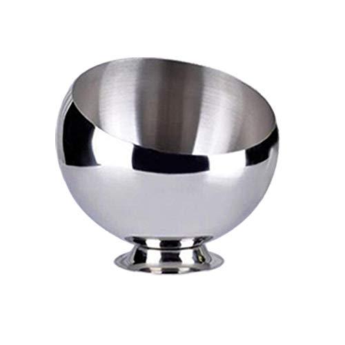 Diuspeed Schüssel aus Edelstahl, Rührschüssel aus Edelstahl, für Spiegel, ideal für Salatschüssel, Rostfreies Metall, 1, 14cm (Avec Pieds) (Buffet-basis)