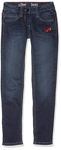 s.Oliver RED Label Junior Mädchen Suri: Stretch-Denim mit Stitching Blue Denim Stretch 158.Slim