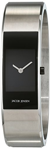 Jacob Jensen Strata Women's Quartz Watch with Black Dial Analogue Display Quartz Stainless Steel 32461