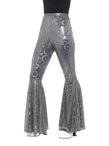 Smiffys Damen Schlaghose, Größe: 36-42, Silber, 21464