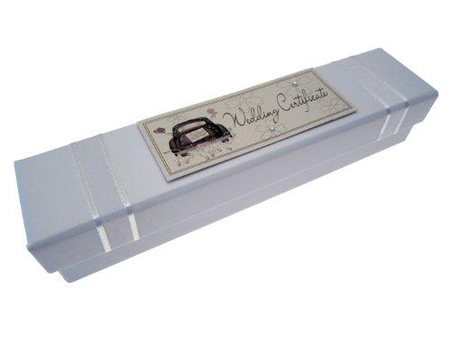 ufbewahrungsbox für Heiratsurkunde, Motiv Auto, Weiß ()