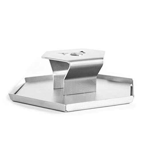 FENNEK Smasher I Grillpresse aus hochwertig geschliffenem Edelstahl I Werkzeug für Küche, Garten, Restaurants, Camping und vieles mehr.