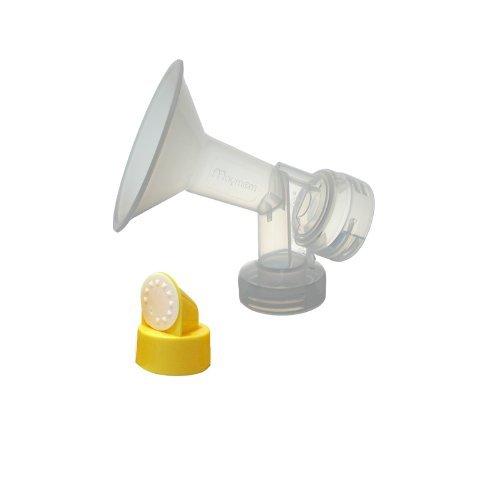 De una sola pieza copa con válvula y membrana para extracores de leche Medela, Tamaño 25 mm; Hecho por Maymom