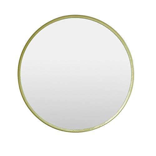 JRPW Marco de Metal Espejo de Pared Redondo Espejo de Baño Hd Espejo de Maquillaje Moderno/dorado ...