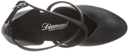 Diamant Diamant Damen Tanzschuhe 107-013-034, Chaussures de Danse de salon femme Noir - Noir