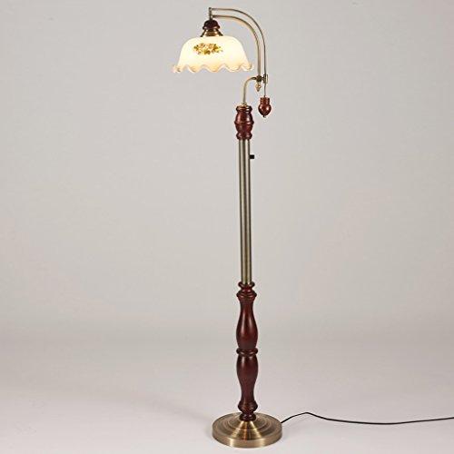 LightSei- Europäische - Stil Retro-Lampen und Laternen Wohnzimmer Schlafzimmer Massivholz-Fußboden-Lampen -