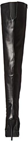Pleaser Seduce 3010, Stivaletti Donna Nero (Black (Blk Faux Leather))