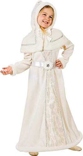 Girls Deluxe Full Length Snow Queen Winter Princess Ice Royalty Christmas Xmas Fancy Dress Costume Outfit + Cape (4-6 years - Girls Snow Queen Kostüm