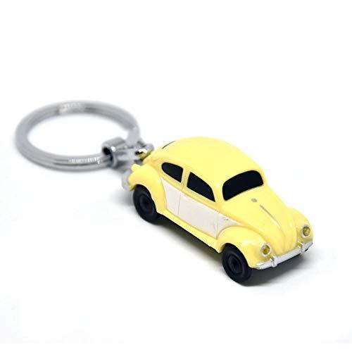trendaffe VW Käfer LED Schlüsselanhänger in gelb - Schlüsselring Schlüssel Ring