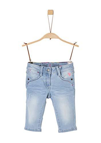 s.Oliver Mädchen 53.904.72.2042 Hose, Blau (Blue Denim Stretch 52z7), 122 (Herstellergröße: 122/REG) (Capri-jeans Mädchen)