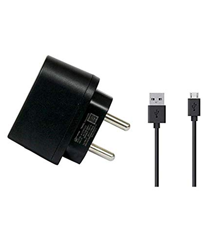 0.7 Amp Micromax Adapter with USB Data Cable