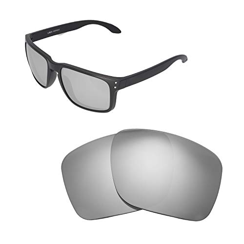 2b88bd17a98a9 Walleva Replacement Lenses For Oakley Holbrook XL Sunglasses - Multiple  Options available (Titanium - Polarized