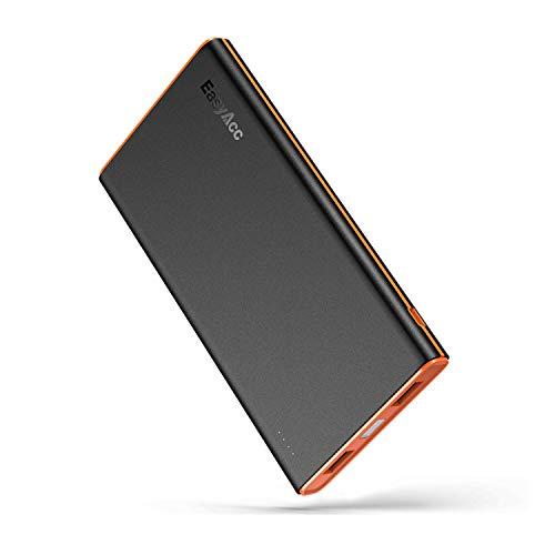 Easyacc - batteria esterna portatile da 10000 mah, colore: nero/arancione