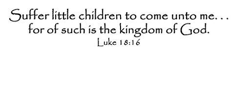 Kleine Kinder Bibel Vers inspirierende Wandkunst Vinyl Wandtattoo Luke 1816 Wand Spruch