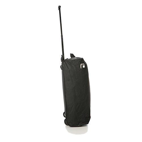5Cities Trolley Tasche Handgepäck, 55cm, 42Liter, schwarz schwarz