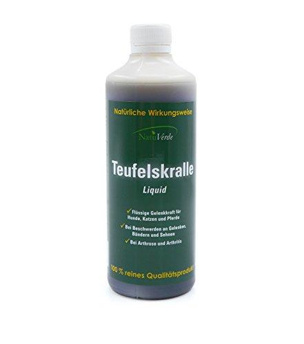 NatuVerde Teufelskralle Liquid, 500 ml, flüssige Gelenkkraft für Hunde, Katzen und Pferde