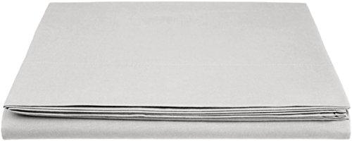AmazonBasics Everyday - Sábana encimera (100% algodón), 240 x 320 cm - Gris claro