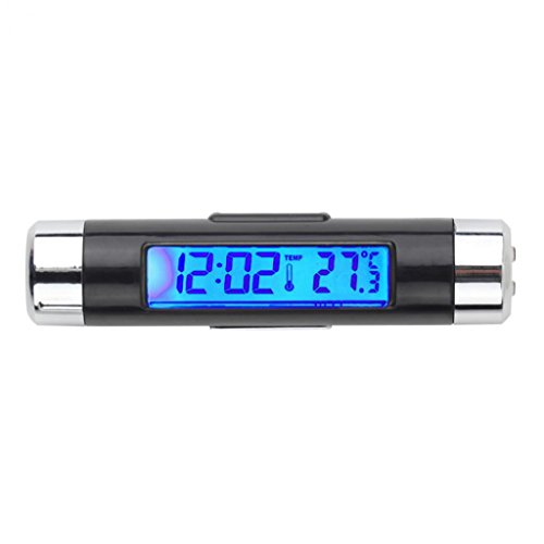 livecity Auto LCD digitales Clip-Hintergrundbeleuchtung Automotive Thermometer Uhr Kalender Display