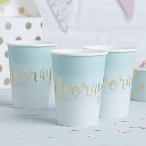 Pick and Mix - Mint & Gold Foiled Hooray Paper Cups