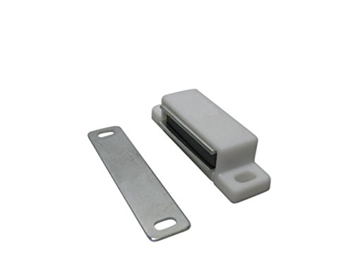 10 x Magnetschnäpper Magnetschnapper Magnet Schnapper Türmagnete Türmagnet weiß 5kg SAMWERK