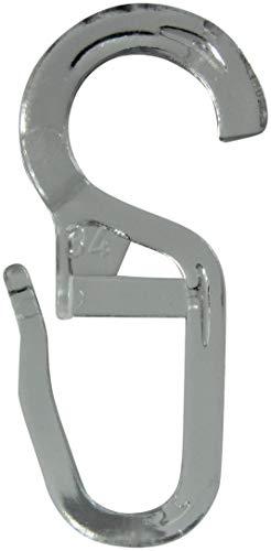 rewagi - Hochwertige Überklipshaken, Faltenlegehaken, Gardinenhaken mit 10 mm Öse - Farbe: Transparent - 25, 50, 100, 200 Stück (50 Stück)