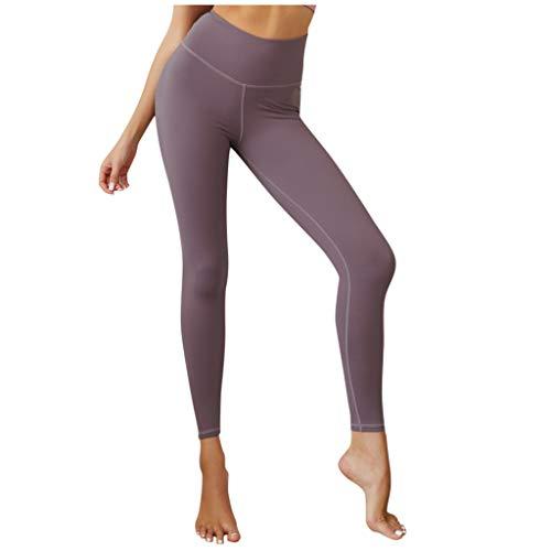 Lomelomme Leggings Femme Sport Taille Haute Couleur Unie avec Poche Pantalon Elastique Sexy Pas Cher Mode Slim Gym Yoga Fitness Pants