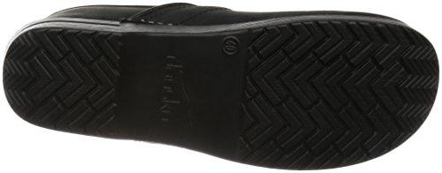 Dansko Professional Leder Pantoletten Schuhe Black Oiled