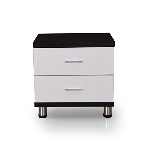 21ae4630d4b 26% OFF on Royaloak Grape Bedside Table with 2 Drawers (Black and White) on  Amazon