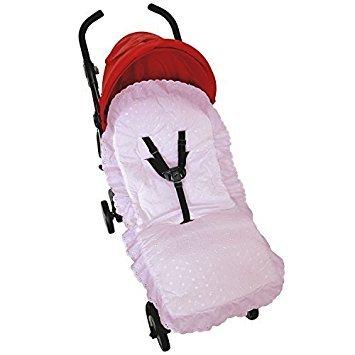 Broderie Anglaise asiento maletero compatible con Jane Buggy carrito de bebé, color rosa