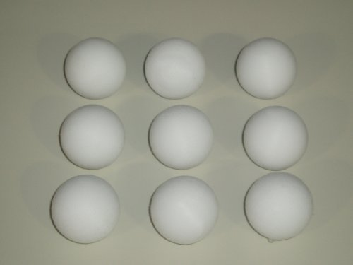 FOOTBALL TABLE BALLS 9 x 36 mm SCUFFED WHITE BALLS **