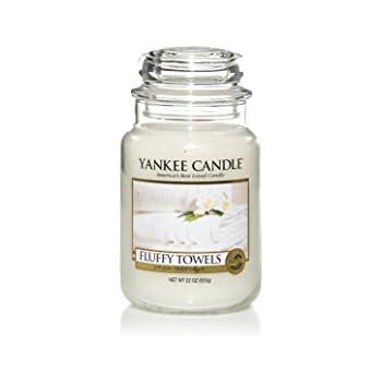 Yankee Candle Fluffy Towels Jar Candle - Large: Amazon.co.uk ...