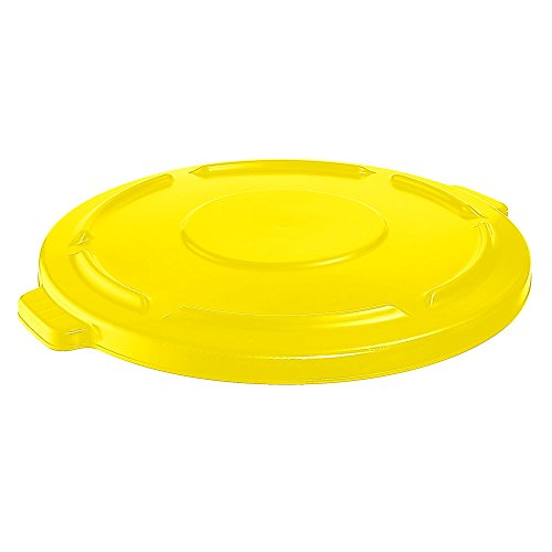 Rubbermaid fg264560yel 4506209Brute Flacher Deckel für 44Gal Container rund, gelb (Rubbermaid-44-gallonen-brute)