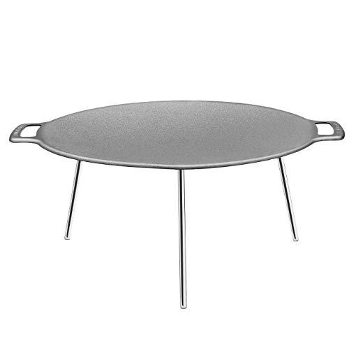 Muurikka 01010102 Grillpfanne mit Füßen, 58 cm, Stahl, Grau (Mit Beinen Wasser-kühler)