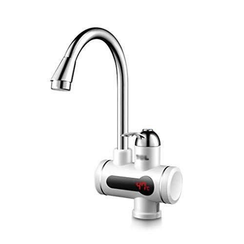 Robinet d'eau chaude Robinet instantané, robinet avec affichage de la température 220V électrique ABS est chaud robinet cuisine robinet de chauffage rapide chauffe-eau du robinet chauffe-eau simple po