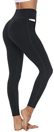Persit Sporthose Damen, Sport Leggins für Damen Yoga Leggings Yogahose Sportleggins, Schwarz, 38 (Herstellergröße: M)