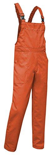 KERMEN - Arbeits-Latzhose Hamburg Kombi-hose Berufskleidung Größe: 46, Farbe : Orange 240gm