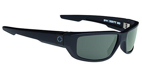0059eb90b1 Spy Optic Dirty Mo sunglasses matte black   Happy grey green Polar lens
