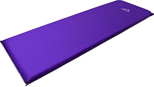 Thermomatte Isomatte Luftmatratze Luftbett Selbstauflasende Farbe Violett Größe 197 x 64 x 7 cm